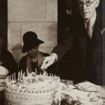 Barney Kroger with birthday cake