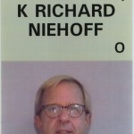 Nick Niehoff's ID badge